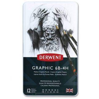 Derwent grafitceruza készlet 12 db-os, közepes