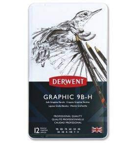 Derwent grafitceruza készlet 12 db-os, puha