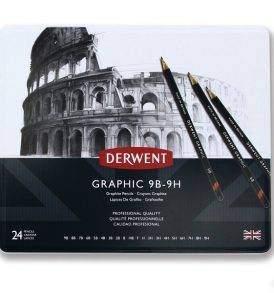 Derwent grafitceruza készlet, 24 db-os