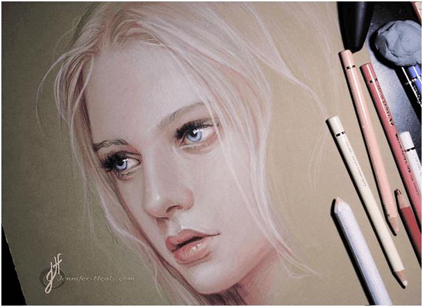 Jennifer Healy rajza Faber-Castell Polychromos ceruzákkal