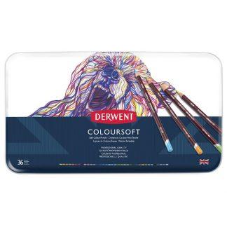 Derwent Coloursoft, 36 db-os készlet
