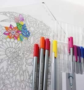 Titkos kert felnőtt színező Staedtler Triplus tűfilccel