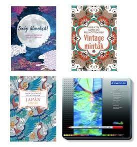 Felnőtt színező könyvek Staedtler Karat akvarell ceruza készlettel