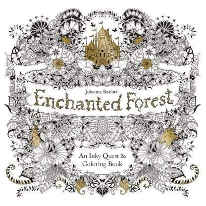 Bűvös Erdő felnőtt színező könyv