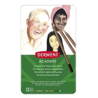 Derwent Academy akvarellceruza, portré színek