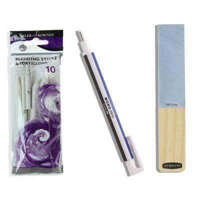 papírceruzák, dörzshegyező, Tombow precíziós radír egy csomagban