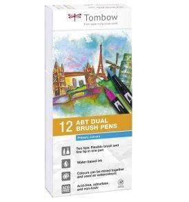 Tombow ABT kéthegyű filctoll alapszínek