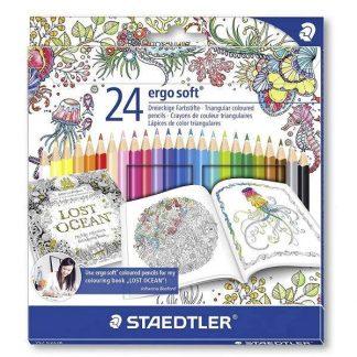 Staedtler Ergosoft 24 db-os színes ceruza készlet exkluzív Johanna Basford kiadás