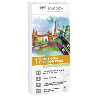 Tombow ABT kéthegyű filctoll pasztell színek