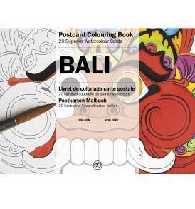 Bali felnőtt színező képeslapkönyv