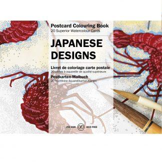 japán minták felnőtt színező képeslapkönyv