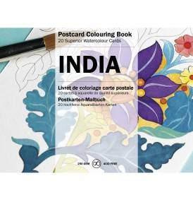 Indiai minták felnőtt színező képeslapkönyv
