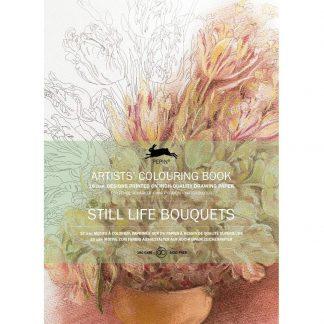 Virágos csendéletek felnőtt színező könyv