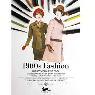 1960-as évek divatja felnőtt színező könyv