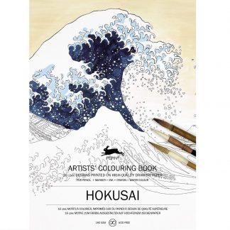 Hokusai felnőtt színező könyv