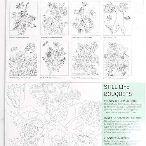 Artists Coloring Book Pepin : Virágos csendéletek felnőtt színező könyv rajzshop.hu