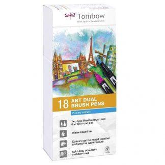 Tombow Dual Brush Pen 18 db-os ecsetfilc-készlet - elsődleges színek