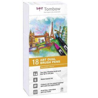Tombow Dual Brush Pen 18 db-os ecsetfilc-készlet - másodlagos színek