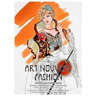 art nouveau divatlépek felnőtt színező