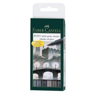 faber-castell szürke ecsetfilc