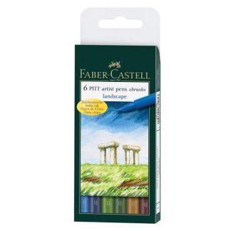 Faber Castell tájkép színek ecsetfilc