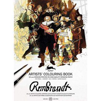 rembrandt felnőtt színező könyv