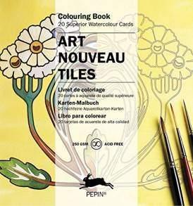 art nouveau csempék színező kártyák