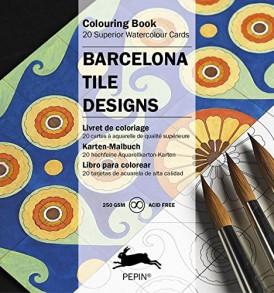 barcelonai csempék színező kártyák