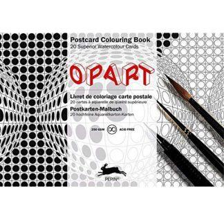 op art felnőtt színező képeslapkönyv