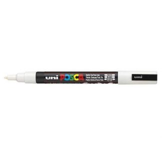 Uni Posca dekormarker 0,9 - 1,3 mm, fehér