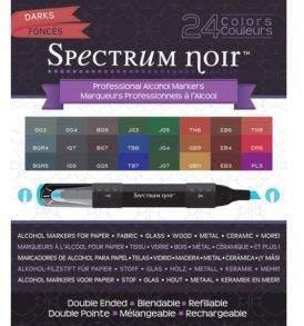 Spectrum Noir alkoholos marker, 24 db-os, sötét színek