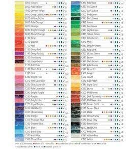 Derwent Coloursoft színes ceruza színskála 72 szín