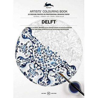 Delft holland minták felnőtt színező könyv