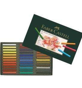 Faber-Castell Polychromos pasztellkréta, 36 db-os készlet, nyitott doboz