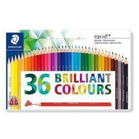 Staedtler Ergosoft 36 db-os színes ceruza készlet, fémdobozos