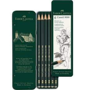 Faber-Castell Castell9000 grafitceruza-készlet 6db-os, nyitott doboz