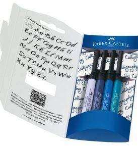 Faber-Castell kalligráfia szett, nyitott doboz