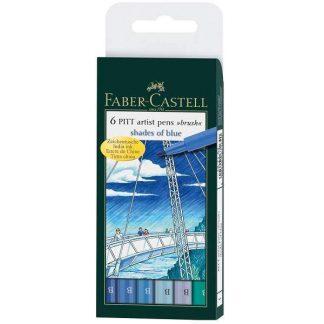 Faber-Castell Pitt ecsetfilc - kék árnyalatai