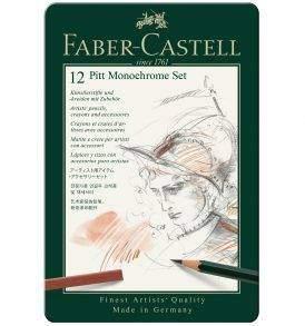 Faber-Castell Pitt Monochrome készlet 12 db-os