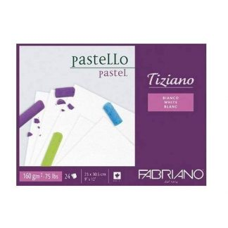 Fabriano Tiziano pasztell papír tömb, fehér