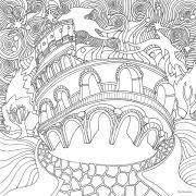 Magical City színező könyv