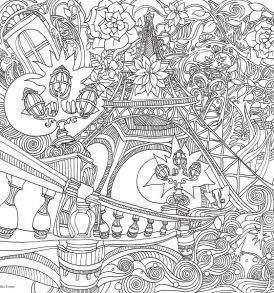 Magical City színező könyv 3