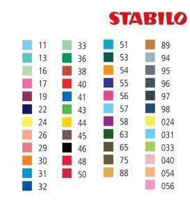 Stabilo Point 88 tűfilc színek