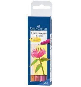 Faber-Castell Pitt tűfilc, 4db-os készlet, meleg színek