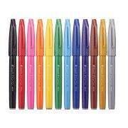 Pentel Pen touch ecsetfilc 12 színben