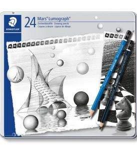 Staedtler Mars Lumograph grafitceruza készlet, 24 db-os