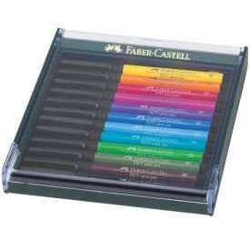 Faber-Castell Pitt ecsetfilc 12 db-os, Élénk színek