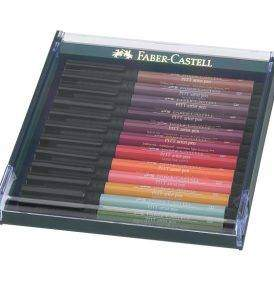 Faber-Castell Pitt ecsetfilc 12 db-os, Földszínek
