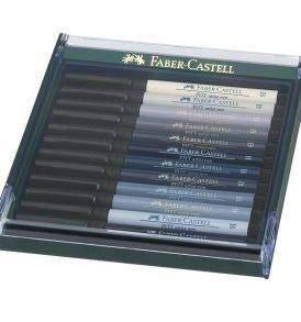 Faber-Castell Pitt ecsetfilc 12 db-os, szürke árnyalatai