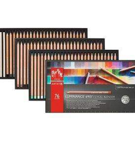 Caran d'Ache Luminance 76 db-os színes ceruza készlet